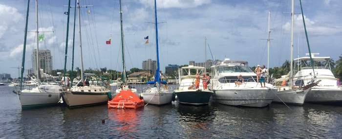 Sailstice, Boat Tug-O-War in Ft Lauderdale